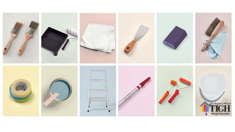 ابزار های مورد نیاز رنگ آمیزی منزل