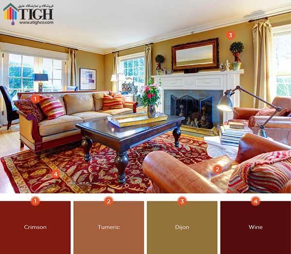 چه ترکیب رنگی برای اتاق مناسب است ؟